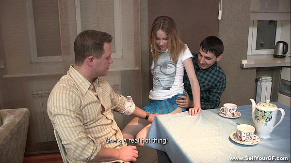 Sell Your GF - Sex dessert Isabel Stern on a kitchen table teen-porn Thumb
