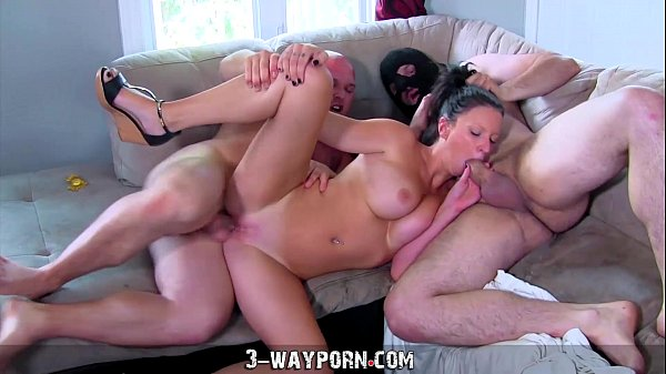 Busty Housewife Gets Fucked and DPed by Husband...