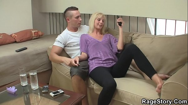 He young blonde wife riding his hard cock