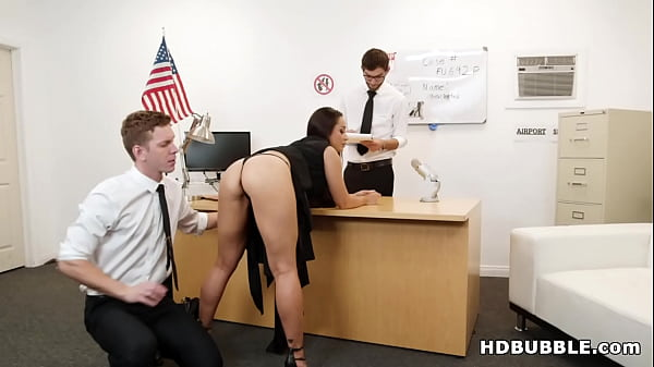 Russian slut DPed by airport security # Crystal Rush Thumb
