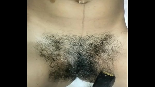 Simmy first time trimming and shaving hair removing with punjabi audio Thumb