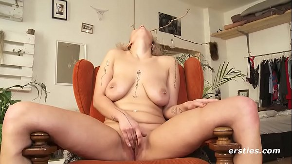 Busty Val Cums Hard with Her Dildo
