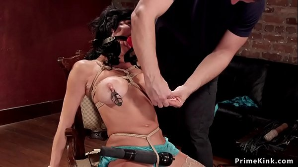 Milf sub pussy and ass vibed in bondage  thumbnail
