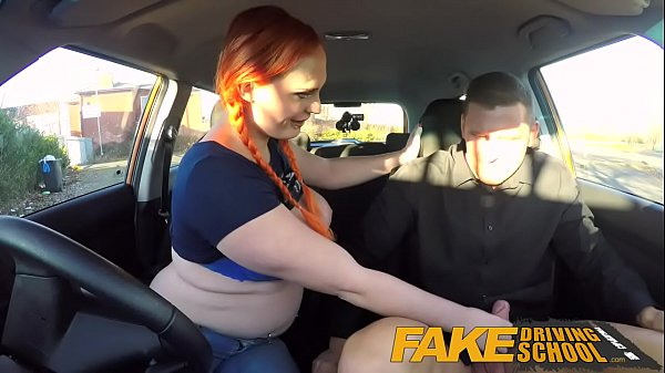 Fake Driving School Examiner sprays cum all over learners hairy pussy Thumb