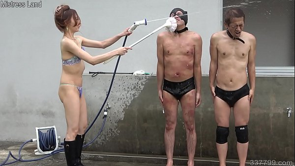 Japanese Femdom Risa shaves the slave and takes...