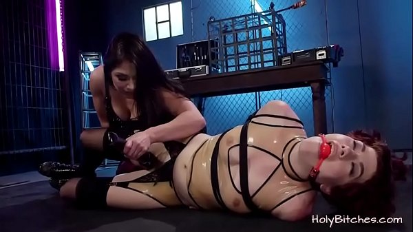 Cutie gets tied and treated with toys