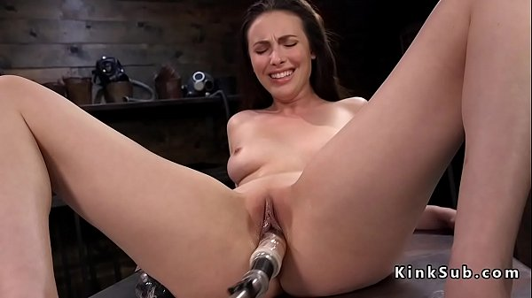 Solo brunette enjoys machine anal sex Thumb