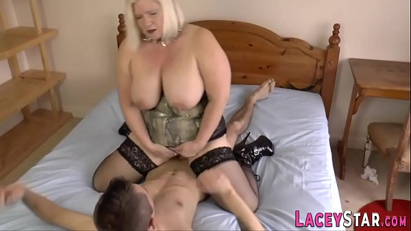 Brit granny rides face and gets plowed