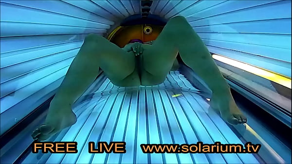 Girls Self Fingering in Solarium Room