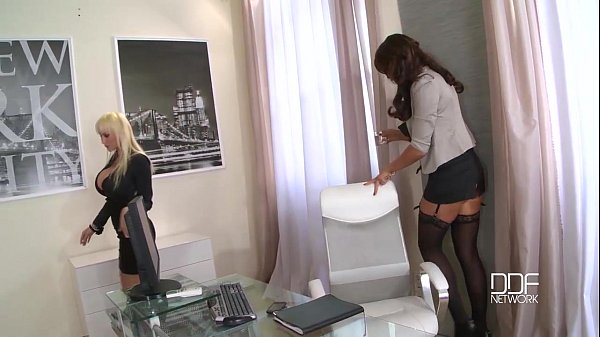 Busty cock crazed secretaries drilled by the Boss