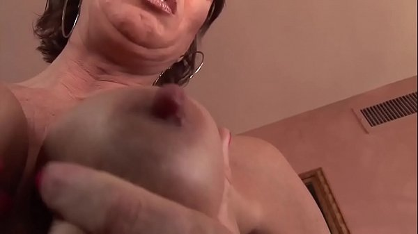 Horny milf masturbates before sucking a big black cock