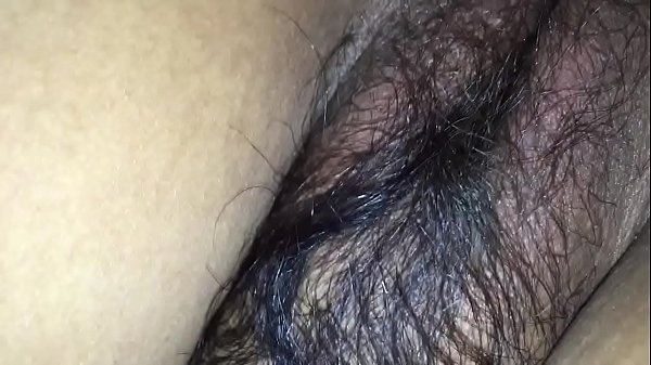 Hairy wife in black bra & tight asshole enjoying doggy style with husband friend Thumb