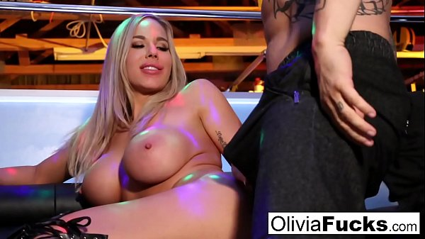 Stacked Blonde Stripper takes on a customer in the VIP Thumb