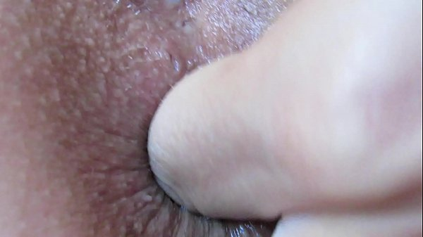 Extreme close up anal play and fingering asshole Thumb