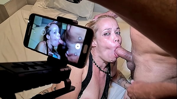 Making Of and Backstage recording from brazilian blonde milf on a recording day in October 2020 with lot of sex and cum on her mouth