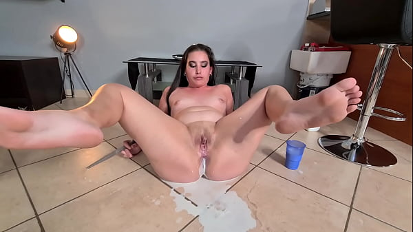 squirting milk into my ass and pooping it out | anal chubby slut