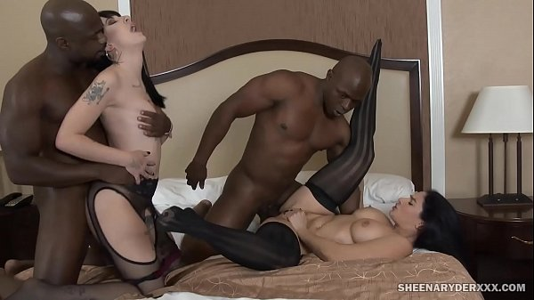Charlotte Sartre and Sheena Ryder IR Orgy