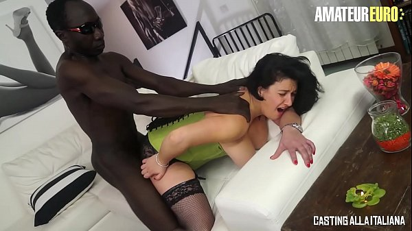 AMATEUR EURO - Busty Romanian MILF Paola Diamante Handle BBC In Her Both Fuck Holes