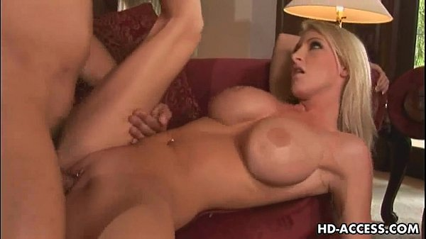 Blonde babe with big tits gets fucked