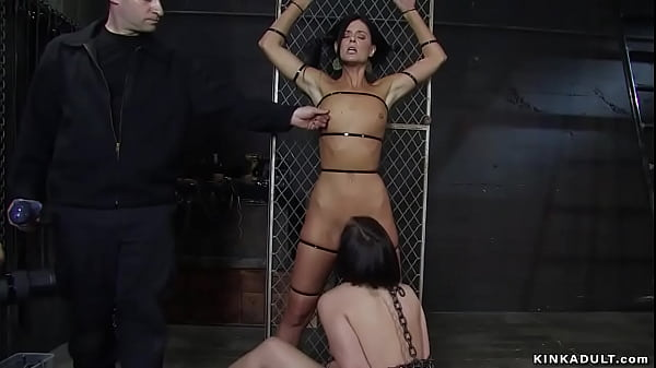 Lesbian slaves fucked and humiliated