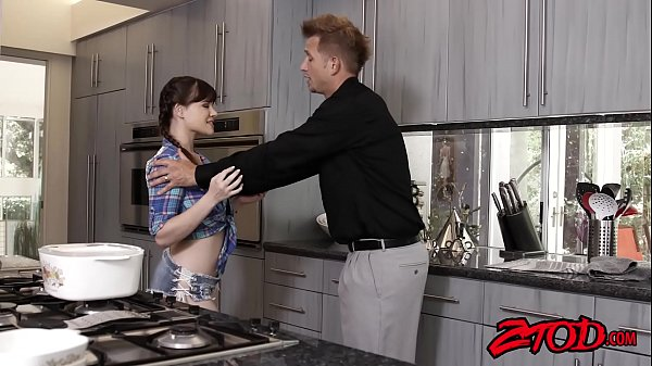Young temptress Alison Rey facialized by big stepdaddy dick