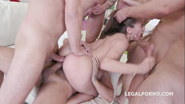 Sperma Party for beautiful Evelina Darling 7on1...