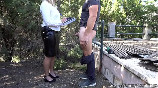 Strict Teacher Huge Cumshot Over Black Leather Skirt - YummyCouple.com Thumb
