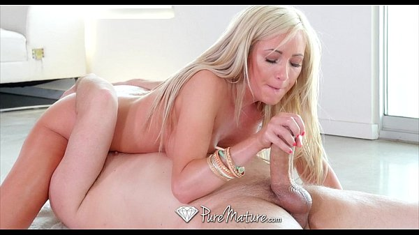 PureMature — Milf Hillary Scott sucks and fucks an oiled up dick