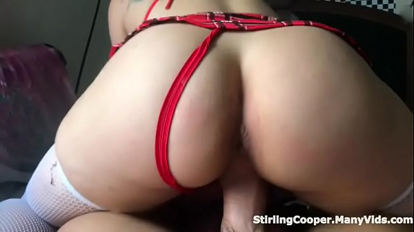 Thick Booty White Girl Blowing Smoke Over Her Professors Cock