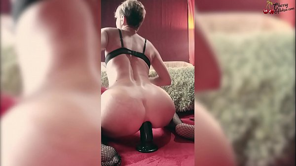 Hard Anal Masturbate with Huge Dildo and Facefuck