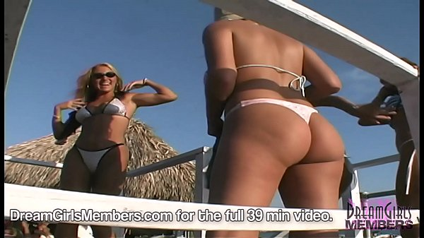 Hot Girl Beach Bikini Contest & One Shows Pussy At The End