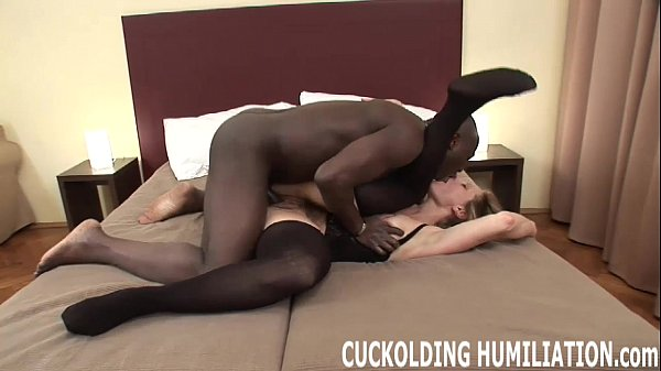 Watch me swallow a big black cock right in fron...