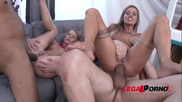 Claudia Mac & Silvia Dellai amazing combo - Blondies & Gapes with Ass rimming!