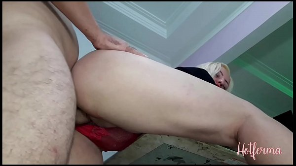 Hot blonde fucks on the cafeteria table with co-worker