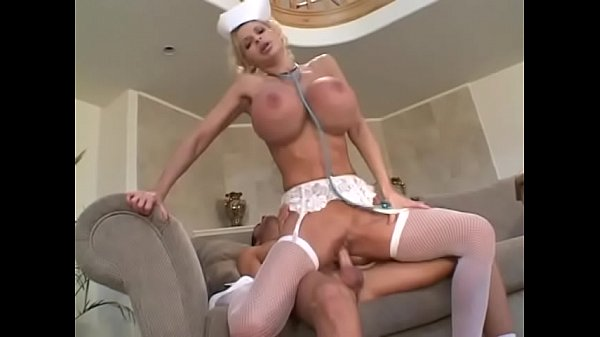 Stud fucks hot busty blond in white stockings t...