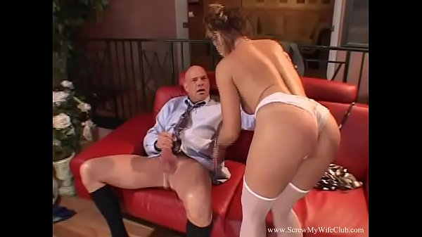 Cheating MILF Fucks Husbands Boss