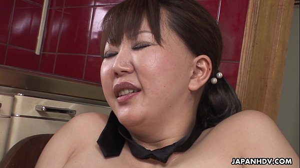 Chubby Japanese MILF moans while her hairy puss...