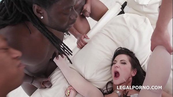 Skilled Nympho Angie Moon Fucks 5 BBC with Ball...