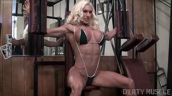 Naked Female Bodybuilder Ashlee Chambers Fucks Banana