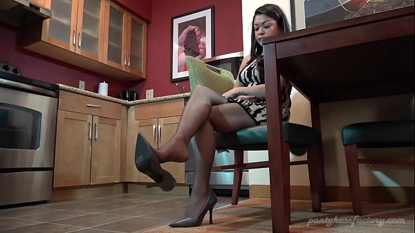 Roselyn Pantyhose Shoe Dangling in the Kitchen