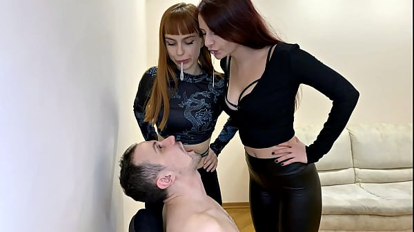 Spittoon Slave For Two Mistress - Double Spitting Humiliation Femdom (Preview)