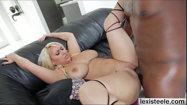 Gorgeous blonde Nina Kayy venerates interracial cowgirl