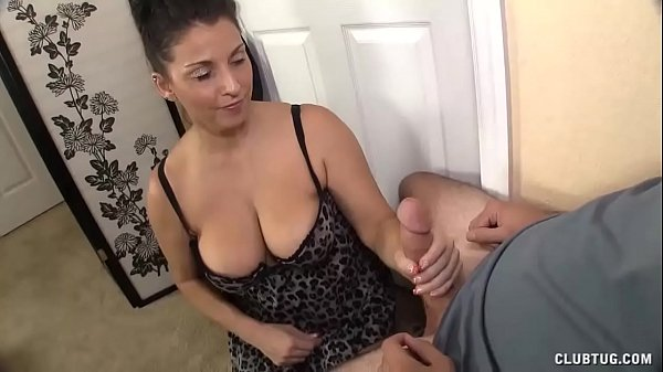 This Guy Starts Touching His Cock To Sexy Dress