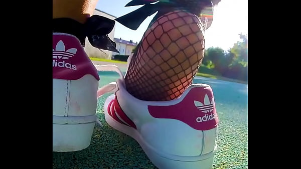 Shoeplay sweaty My Adidas Superstars totally sweaty and smelly Shoeplay, dangling, Dipping
