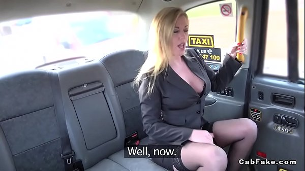 Busty Milf cheating with fake taxi driver