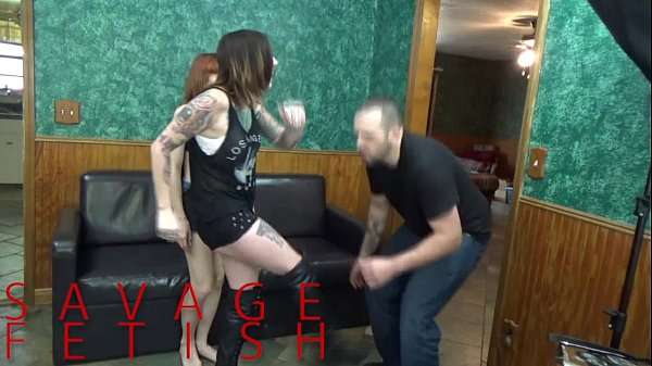 Lizzy Lamb and Sully Savage Ball Destruction FEMDOM Thumb