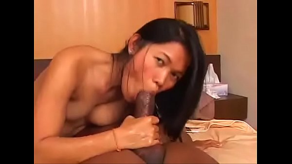 Thai girl Tuk cums as she rides a big black dick then gets creamed