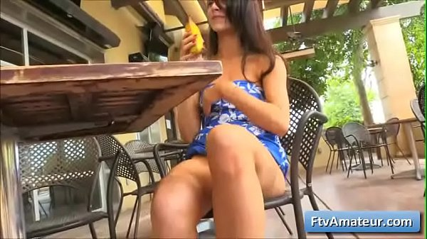 Hot amateur brunette babe Anyah enjoy thick banana in her juicy pink pussy Thumb