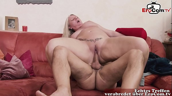 Fat chubby bbw german mom seduces guy at home w...
