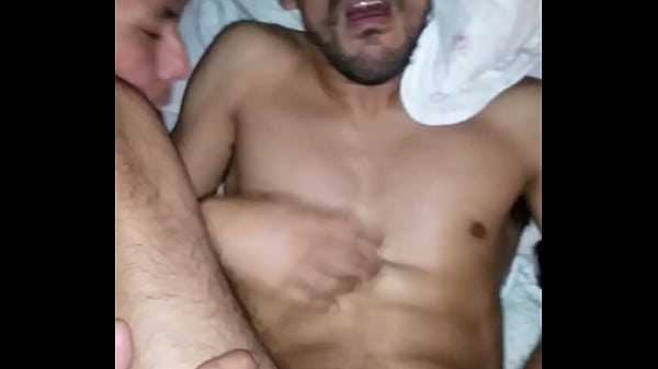 Latin gay fucked by a two huge cocks